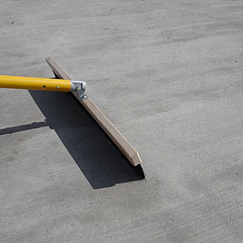 Outdoor broom-finished concrete