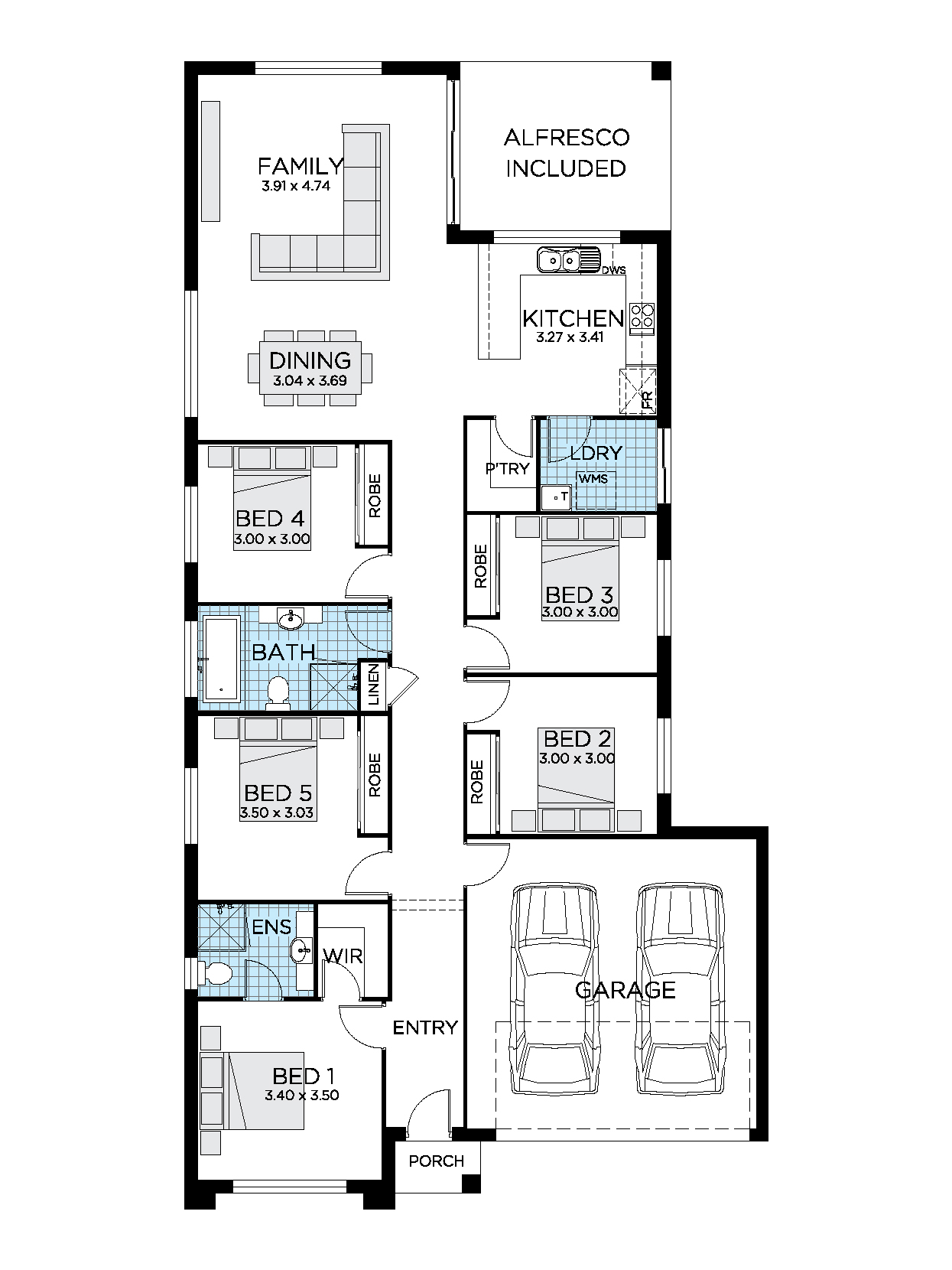 Aria House Design 4 5 Bedroom House Plans Thrive Homes
