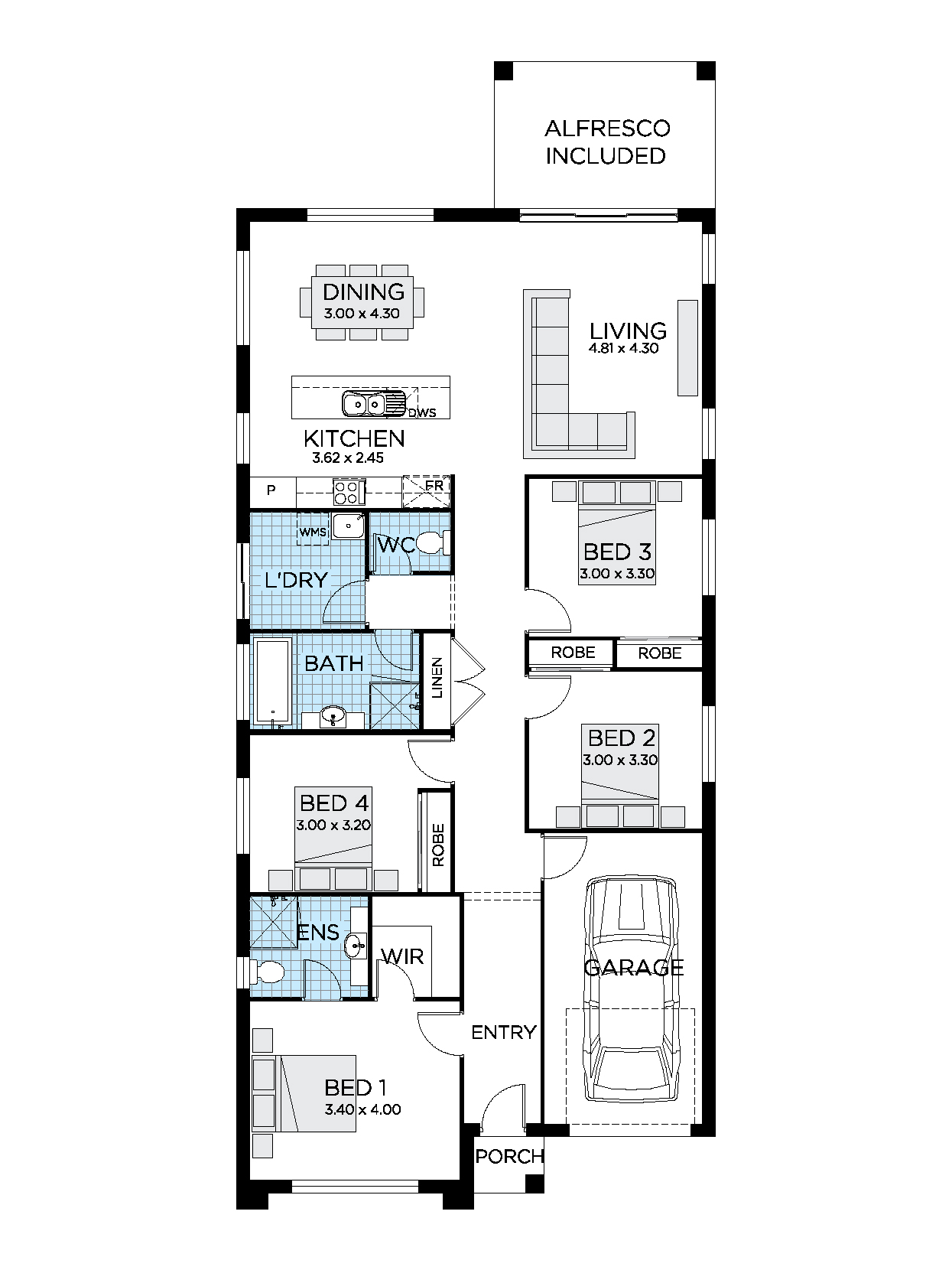 Thrive Homes Avalon 19 Home Design Floorplan