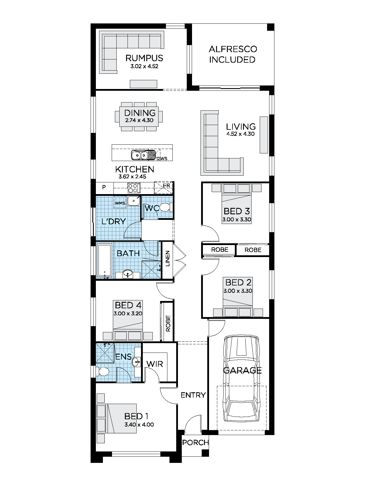 Thrive Homes Avalon 21 Home Design Floorplan
