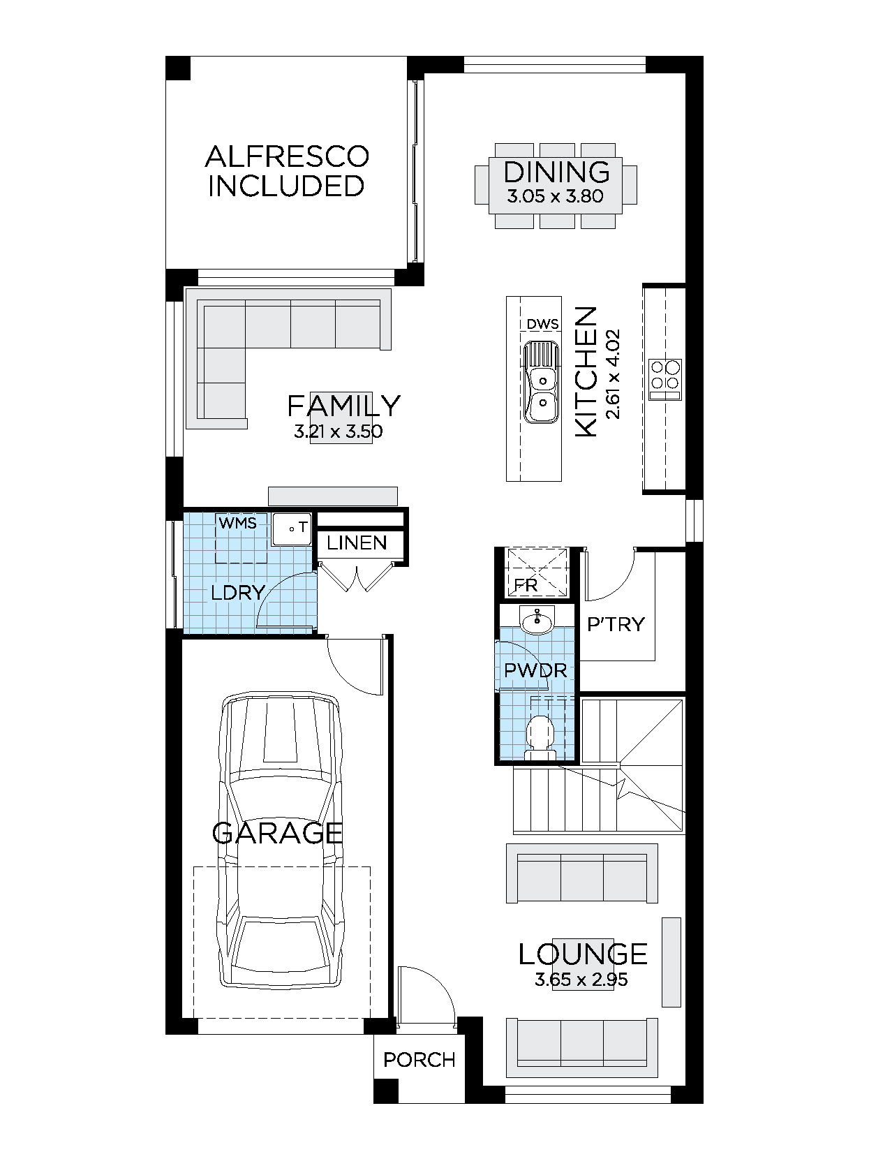 Thrive Homes Essence 22 Ground Floor plan