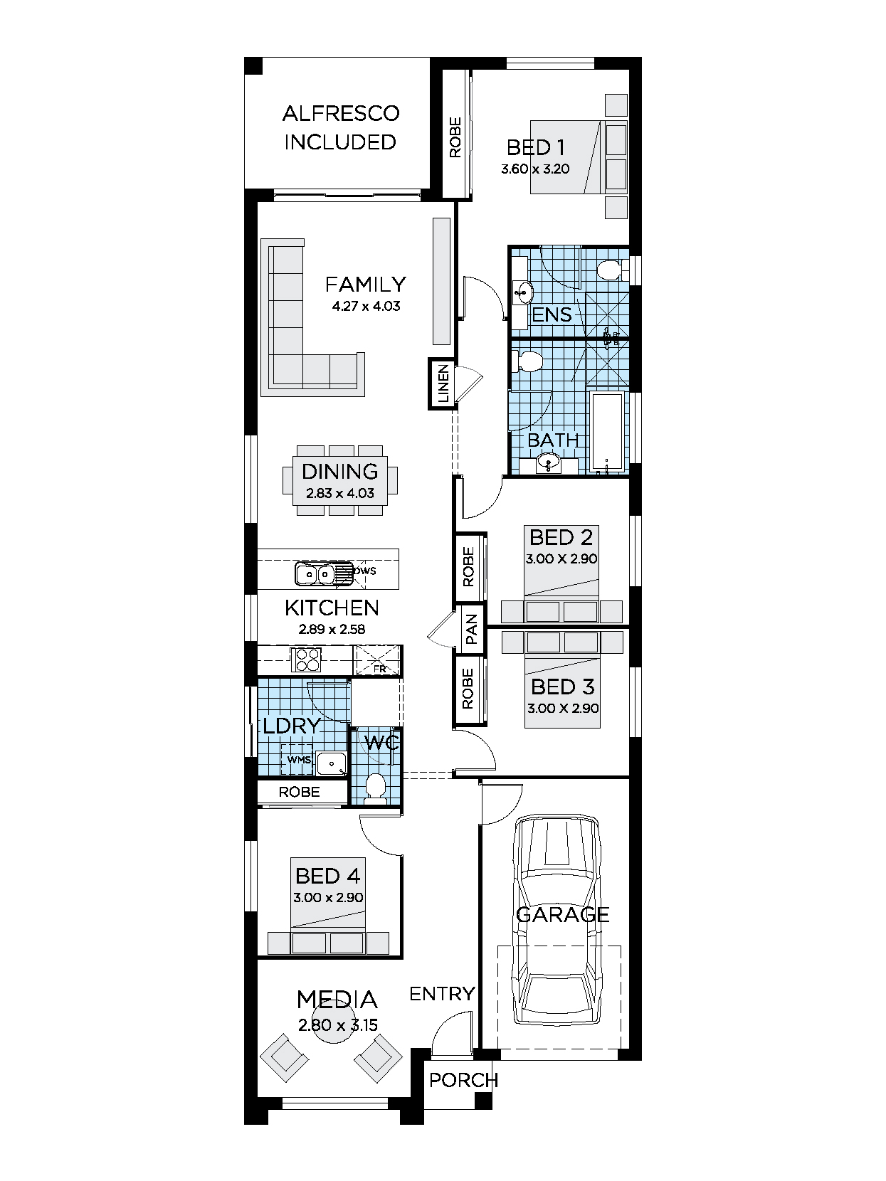 Eve House Design Single Storey House Plan Thrive Homes