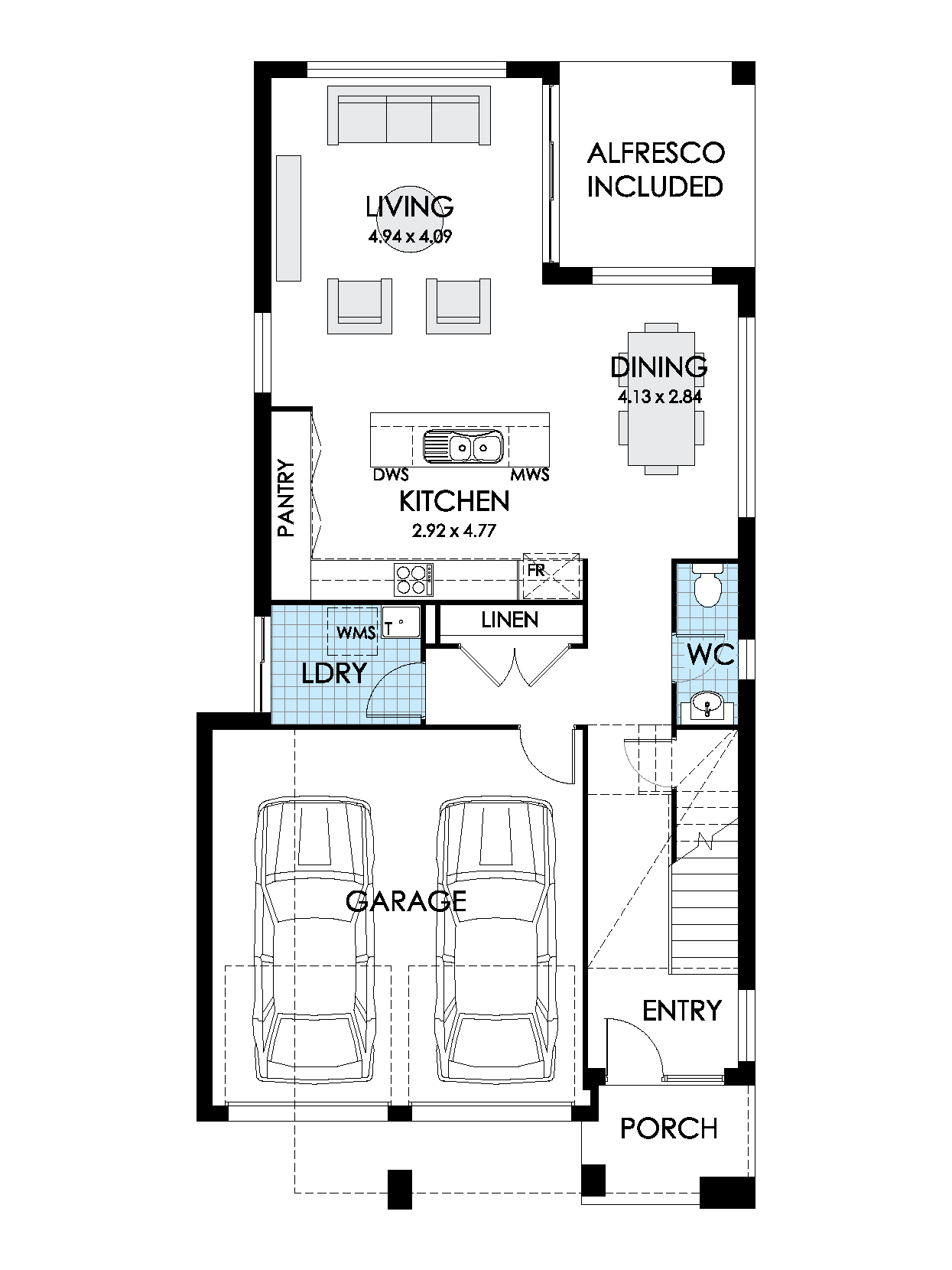 Thrive Homes Onyx 24 Ground Floor Plan