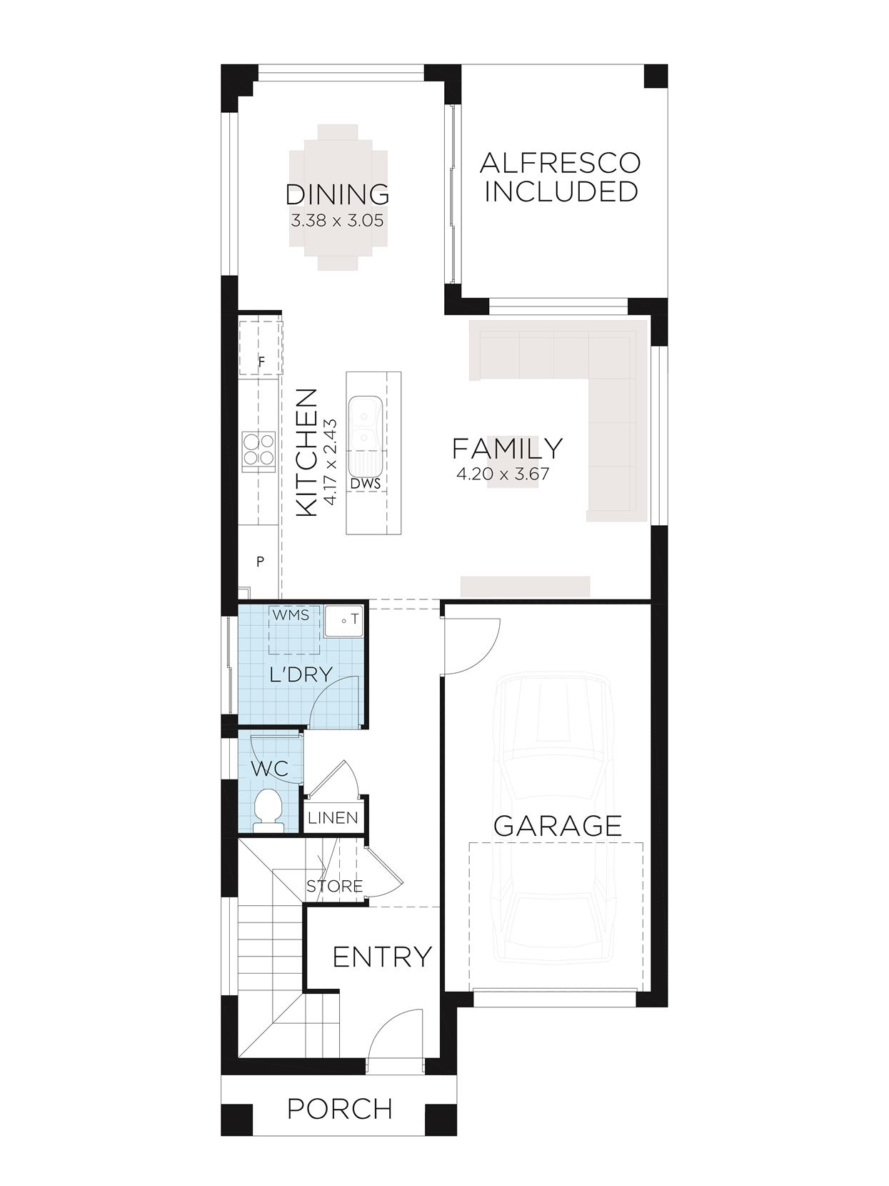 Rayna 21 Ground Floorplan