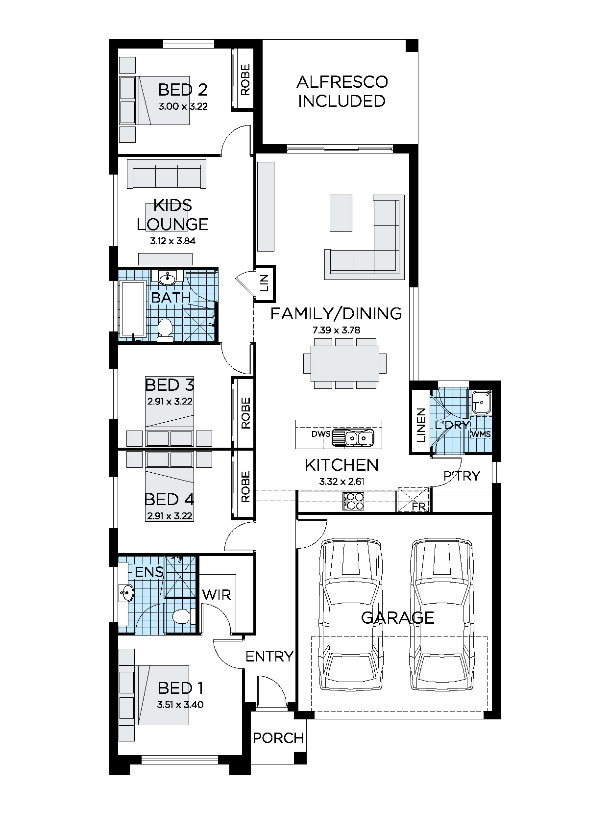 Thrive Homes Sienna 21 Home Floor plan