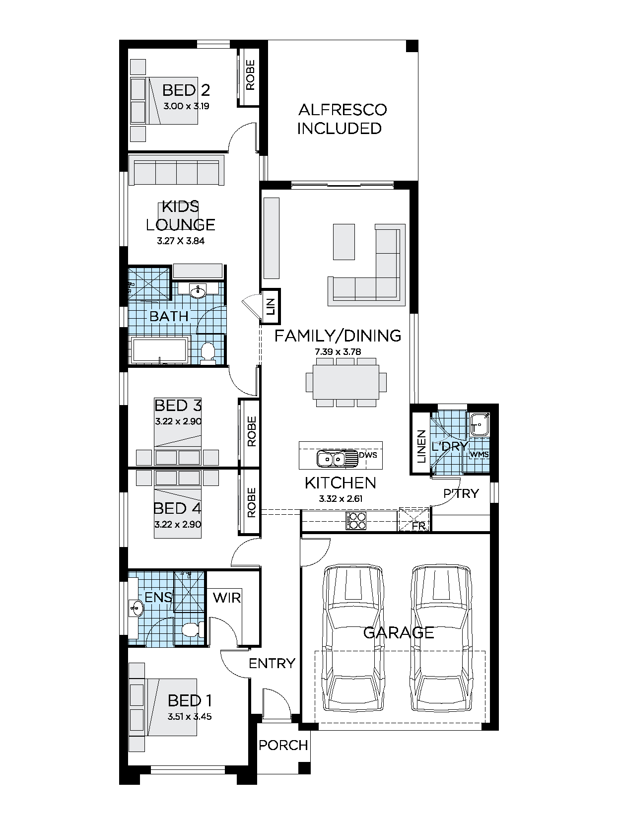 Thrive Homes Sienna 22 Home Floor plan