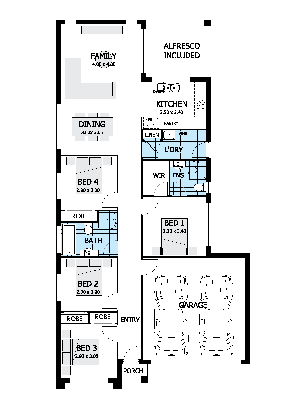 Spectre House Design | Single Storey Floor Plan | Thrive Homes