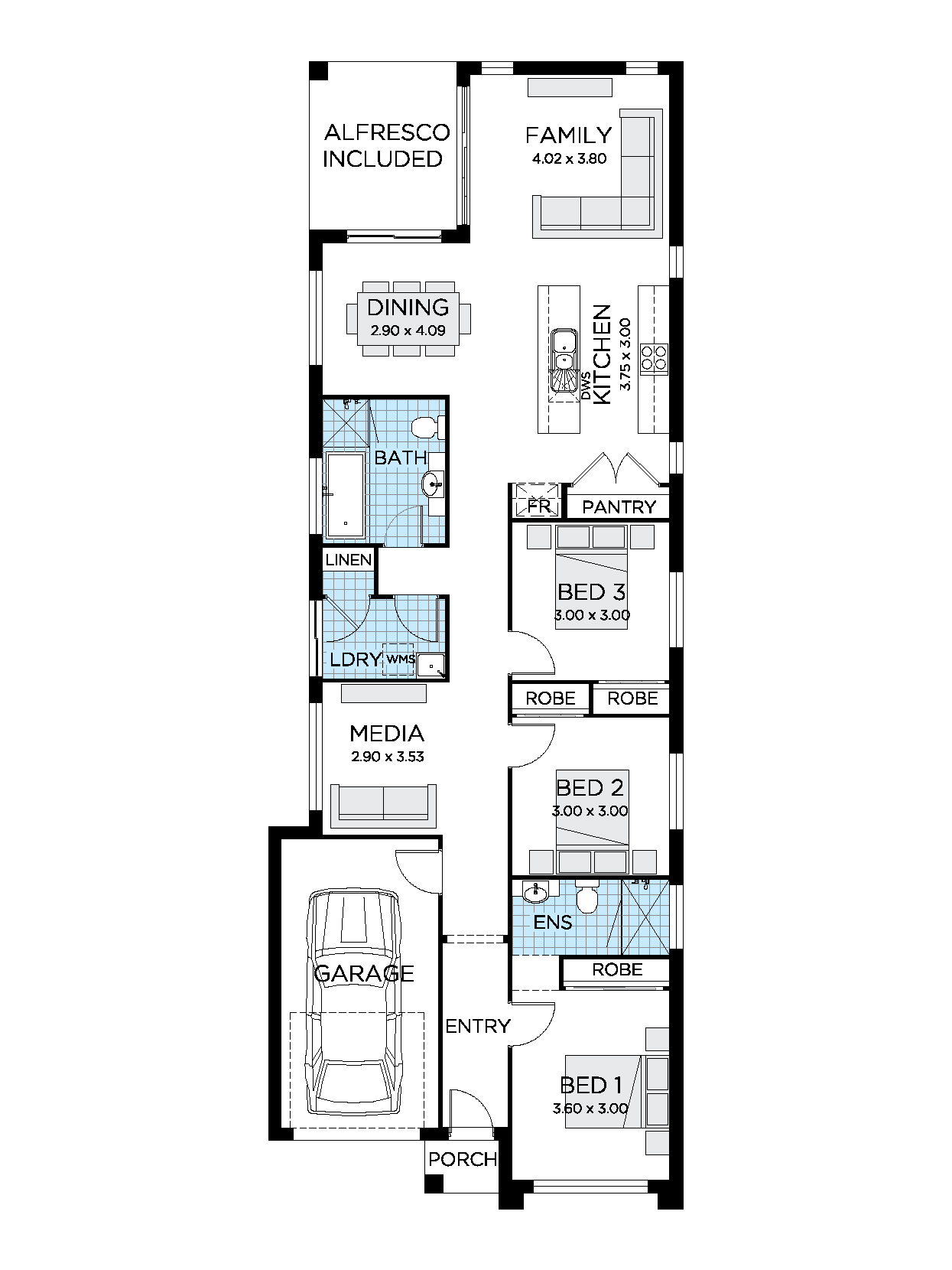 Zen Home Design | Narrow Lot House Plan | Thrive Homes Zen House Design Floor Plan on modern minimalist house floor plan, zen house design concept, zen house design style,