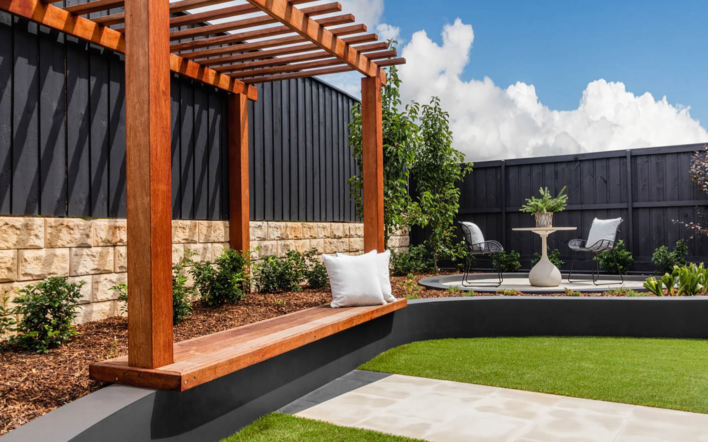 Alysium House Design Backyard Seating