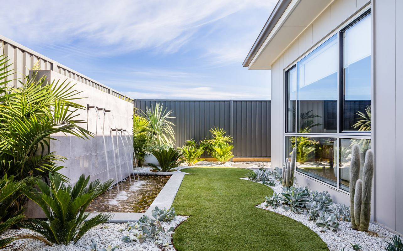 Thrive Homes Aria Display Home Backyard