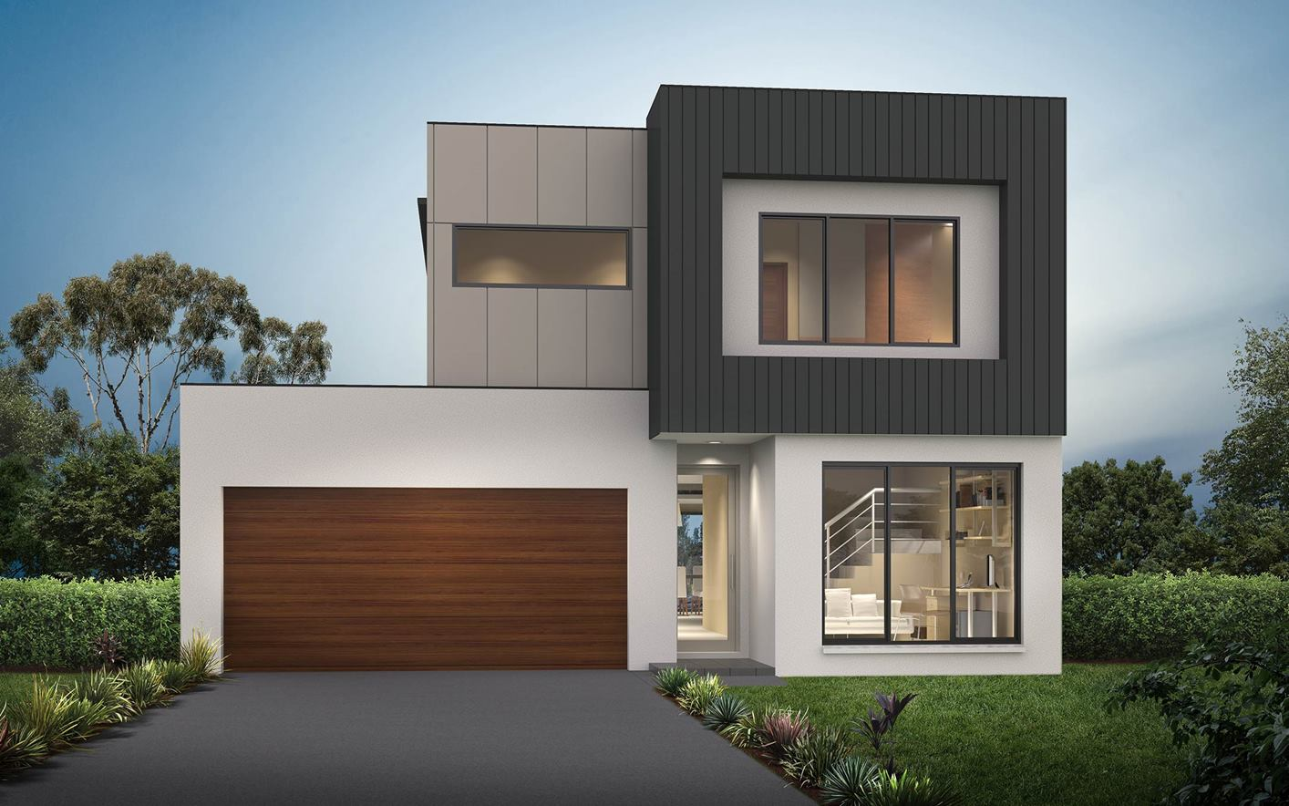 Thrive Homes Essence Home Design Rubix Facade with Render
