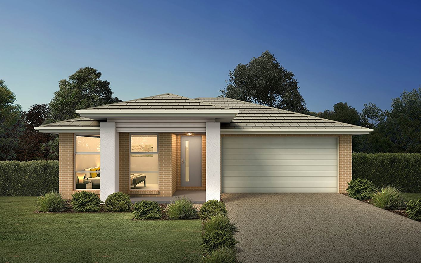 Thrive Homes Rise Home Plan with Vogue Facade