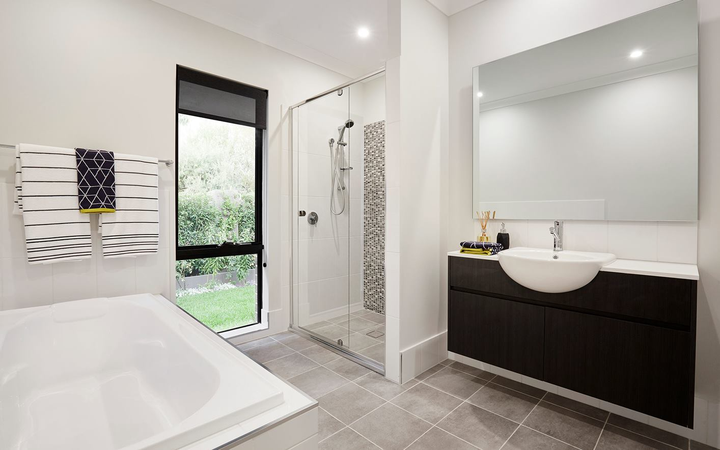 Sienna Home Design Family Bathroom at Airds Display Village