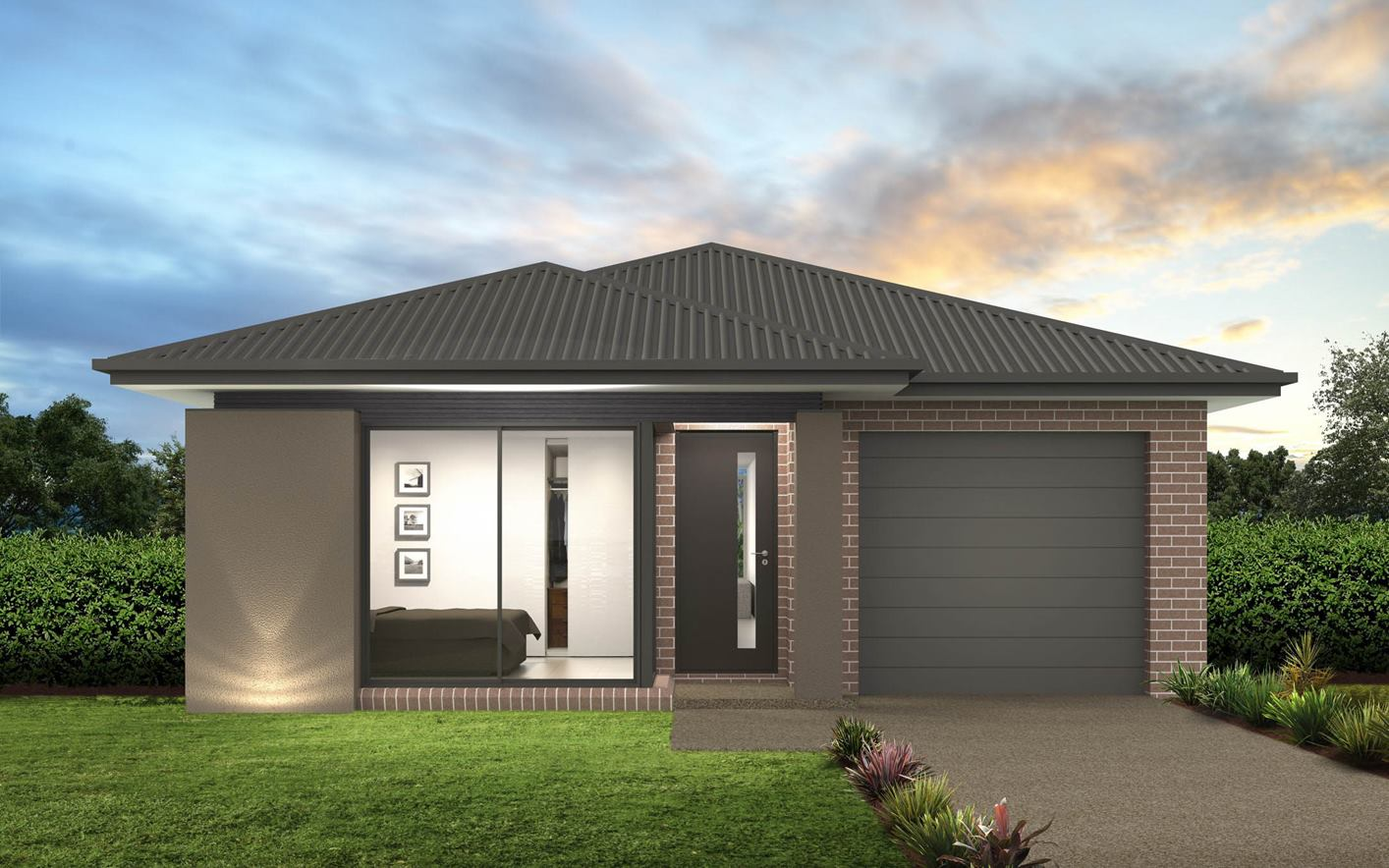 Thrive Homes Verve House Plan with Ascot Facade
