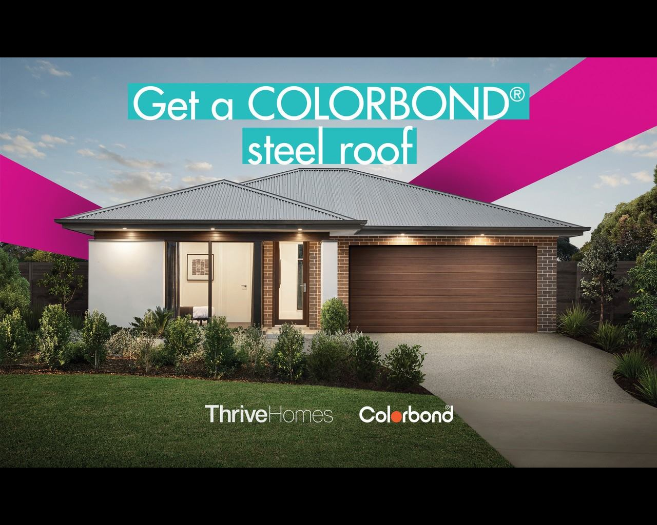 Thrive Homes Colorbond Promotion