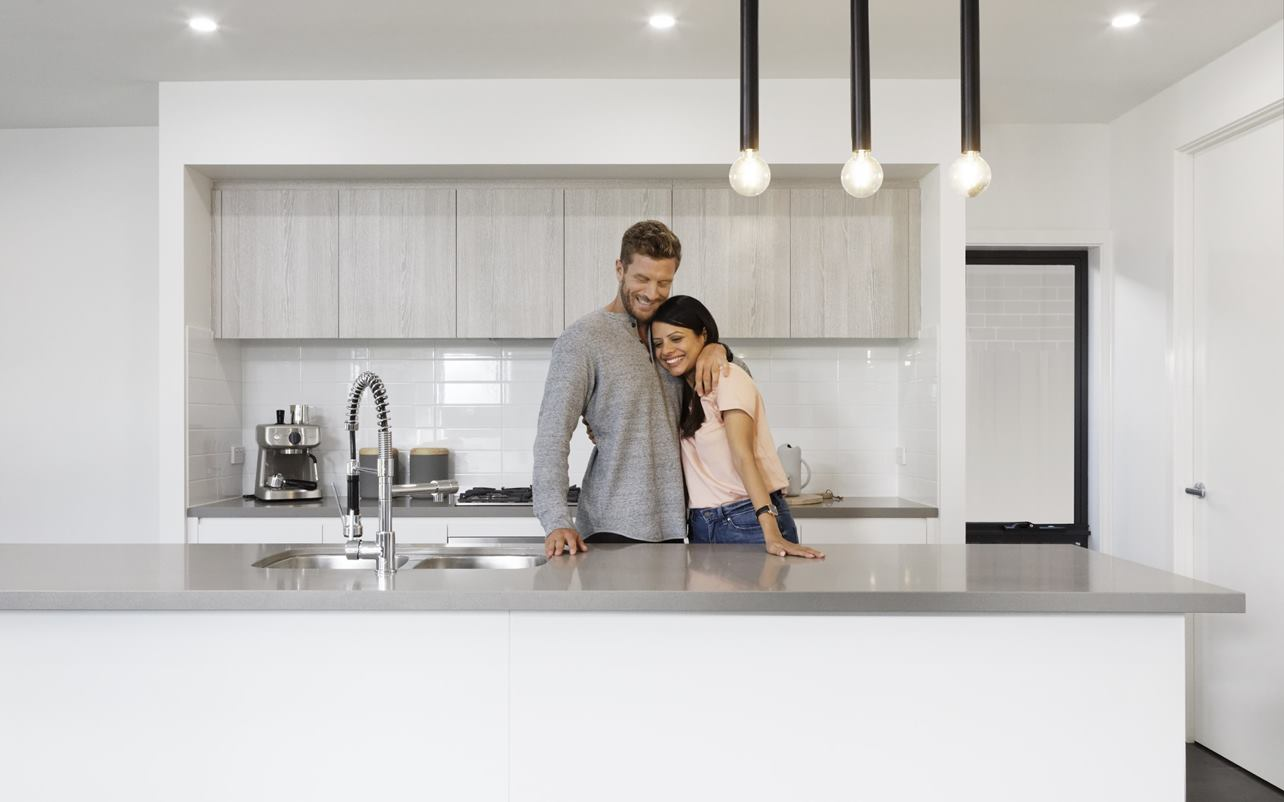 Thrive Homes Hero Campaign Kitchen Couple